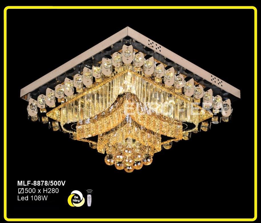 Đèn Mâm Led Vuông MLF8878 500x500