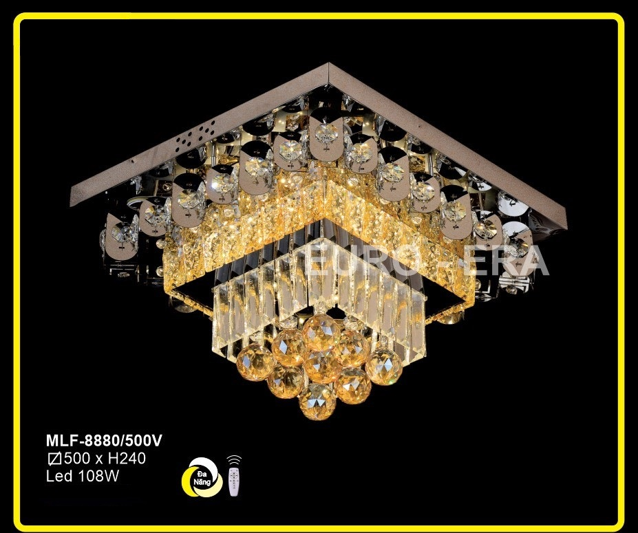Đèn Mâm Led Vuông MLF8880 500x500